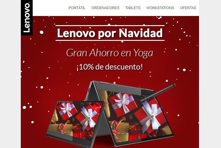 Descuentos Lenovo Yoga esta Navidad