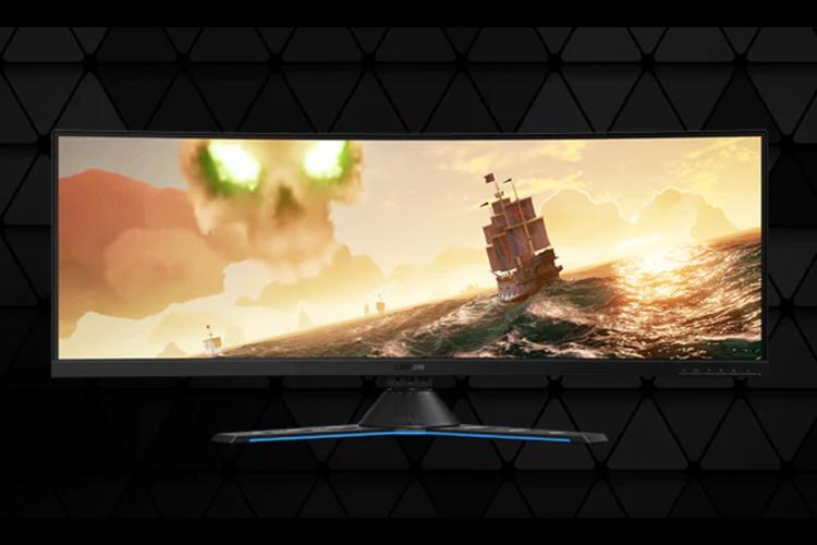 Vista frontal del monitor de gaming lenovo legion Y44w