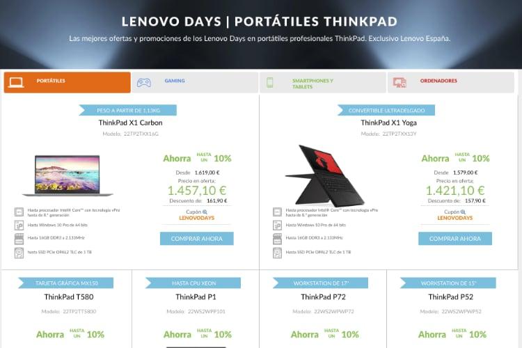Descuentos Lenovo