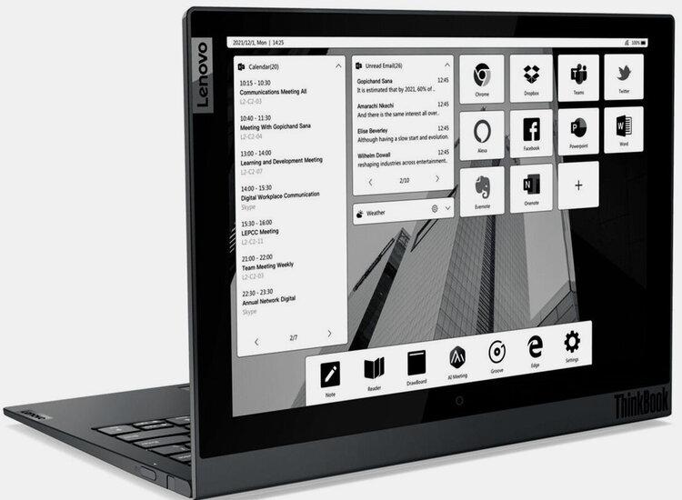 Lenovo actualiza sus portátiles ThinkBook, incluyendo un modelo con doble pantalla E-ink