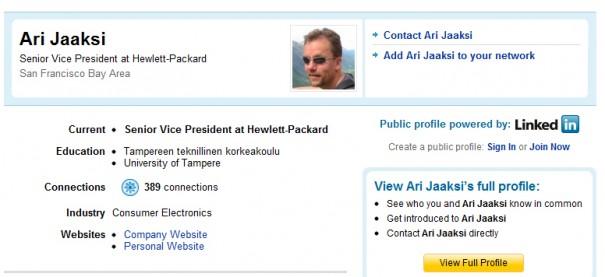 Ex MeeGo ya luce como vicepresidente de HP-WebOS