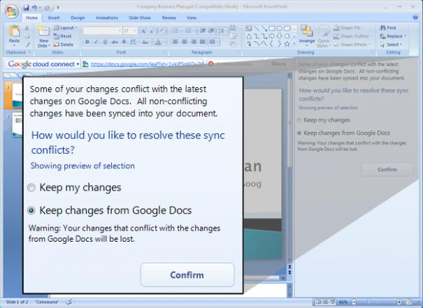 Google fusiona Docs con la Office de Microsoft