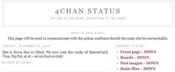 4Chan caído por ataques DDoS ¿el cazador cazado?