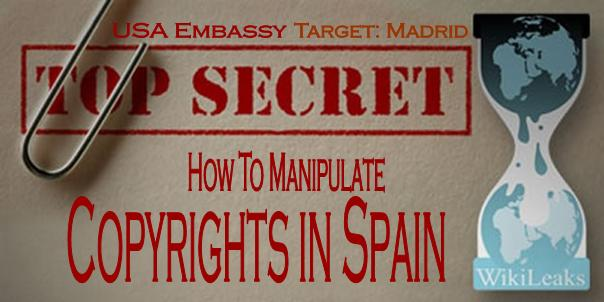 El Gobierno español pidió a EE.UU que presionase al PP, CIU y PNV para aprobar la 'Ley Sinde'
