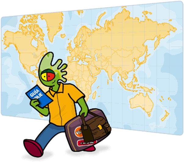 Soporte tecnológico para folletos de viajes con la tecnología vPapel
