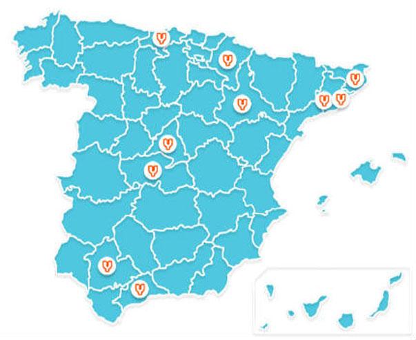Mapa centros Yuzz