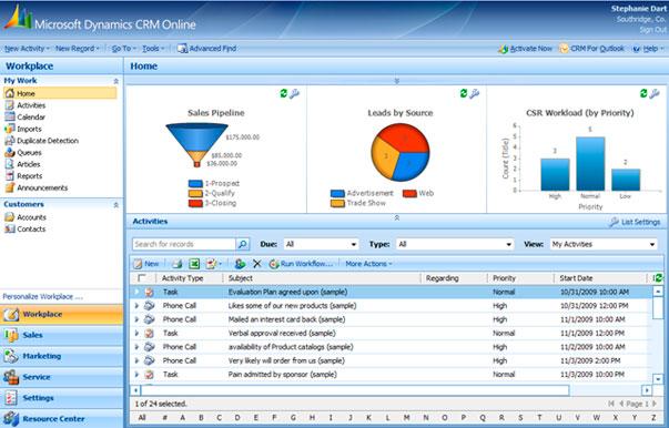Microsoft lanza hoy en España su CRM Dynamics on-line