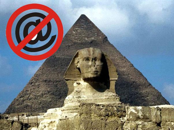 Egipto desaparece de Internet