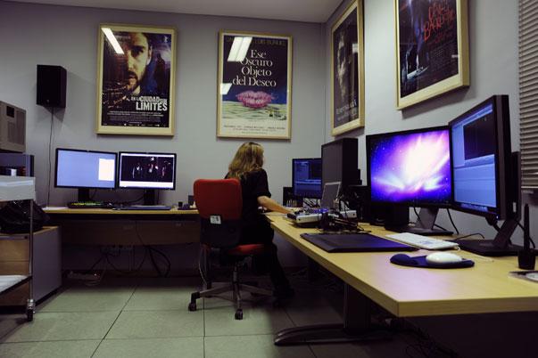 Trigital instala el nuevo laboratorio digital de la Filmoteca