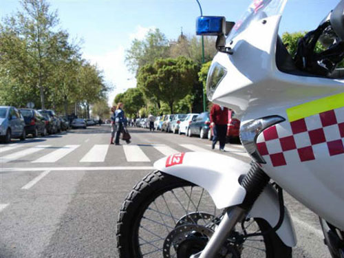 Moto policía local