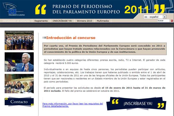 Abierta la IV convocatoria del Premio de Periodismo 2011