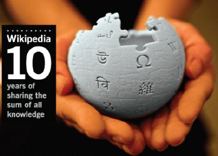 Décimo aniversario para Wikipedia