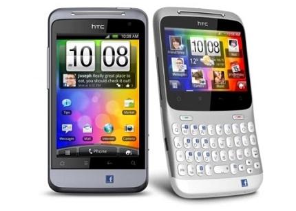 HTC Chacha y Salsa, móviles Facebook