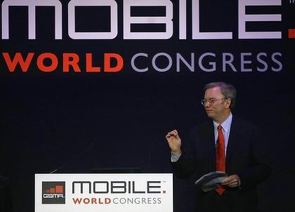 Cifras de Android en MWC de la mano de Eric Schmidt