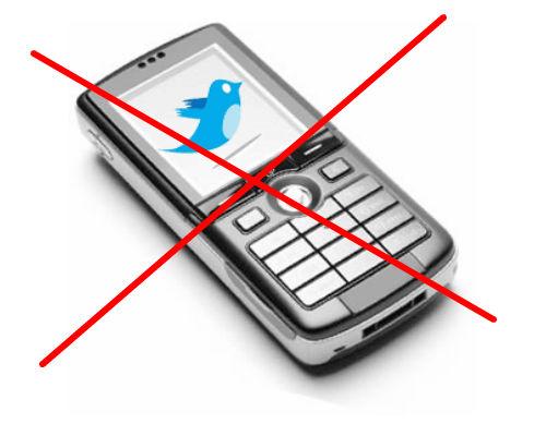 Twitter no lanzará su propio dispositivo móvil