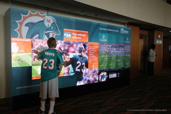 BuzzWall Interactive Miami Dolphins