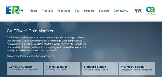 CA ERwin Data Modeler r8 para la migración de los datos a entornos cloud