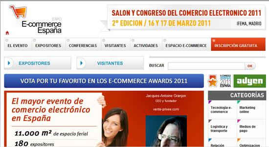 Feria Expo E-Commerce España 2011, el 16 y 17 de marzo