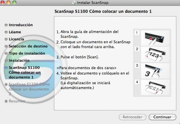 Escáner Fujitsu ScanSnap S1100