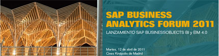 SAP Business Analytics Forum 2011 llega a España