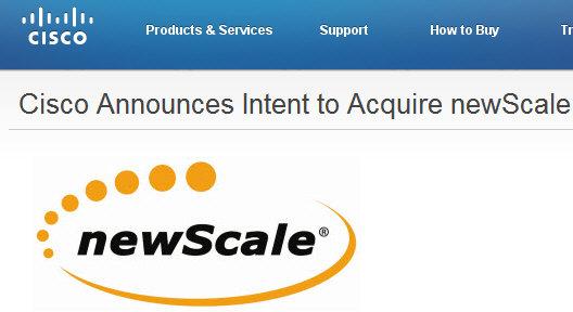 Cisco comprará newScale para potenciar sus servicios cloud computing