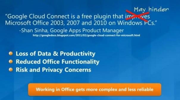 A Microsoft no le gusta el Cloud Connect de Google