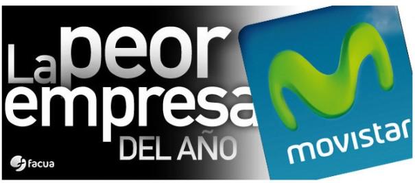 FACUA declara a Movistar como 'la peor empresa del año'