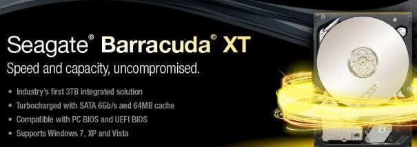Seagate anuncia disco duro Barracuda XT con 3 TB