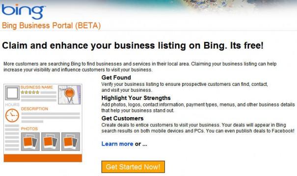 Microsoft anuncia el Bing Business Portal