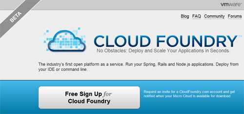 VMware Cloud Foundry, solución Open PaaS