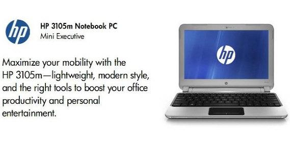 HP 3105m Mini Executive, ultraportátil para empresas