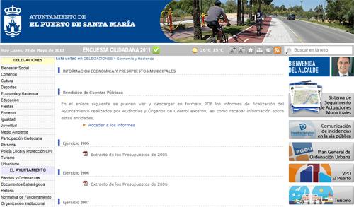 Web Ayuntamiento de El Puerto de Santa Maria