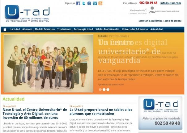U-tad, el primer Centro Universitario oficial de Tecnología y Arte Digital de España