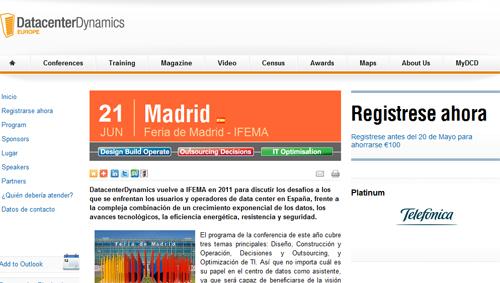 DatacenterDynamics 2011 vuelve a Madrid