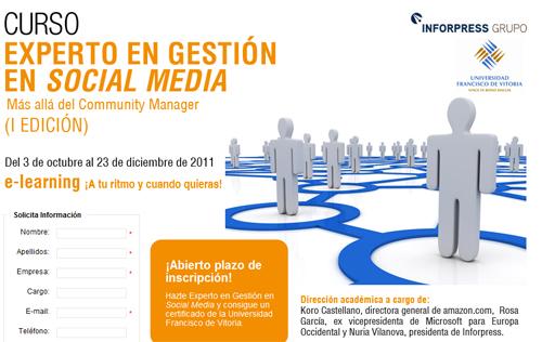 experto en social media Programa de postgrado: Experto en gestión en Social Media