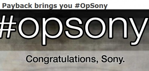 Sony responsabiliza a Anonymous del robo de datos en sus sistemas