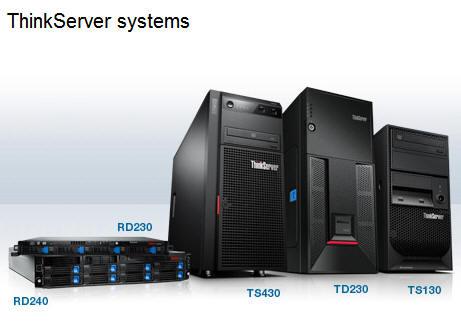 Lenovo añade los ThinkServer TS130 y TS430