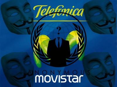 Anonymous ataca a Telefónica