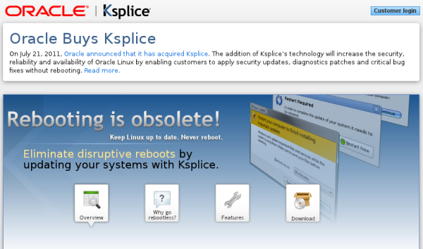 Oracle compra Ksplice