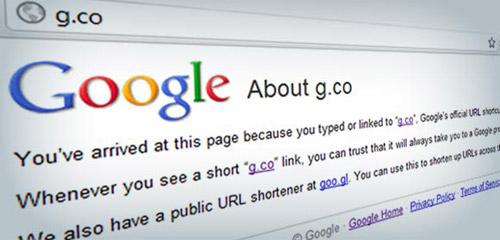Google compra el dominio g.co, un servicio para acortar URLs