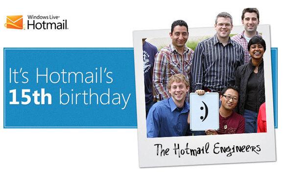 Primeros quince años para el webmail Hotmail
