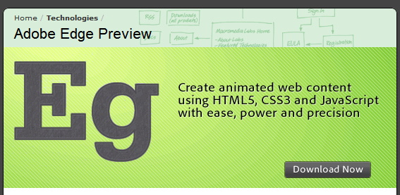Adobe presenta la previa de Edge para diseño web bajo HTML5