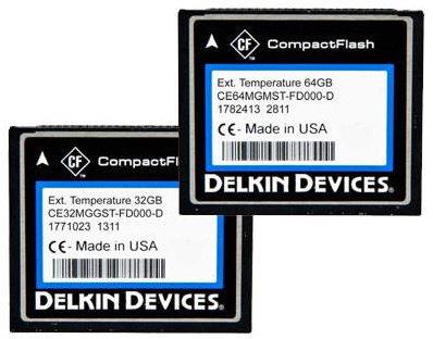 CompactFlash Delkin para aplicaciones industriales