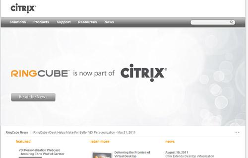 Citrix adquiere el proveedor RingCube