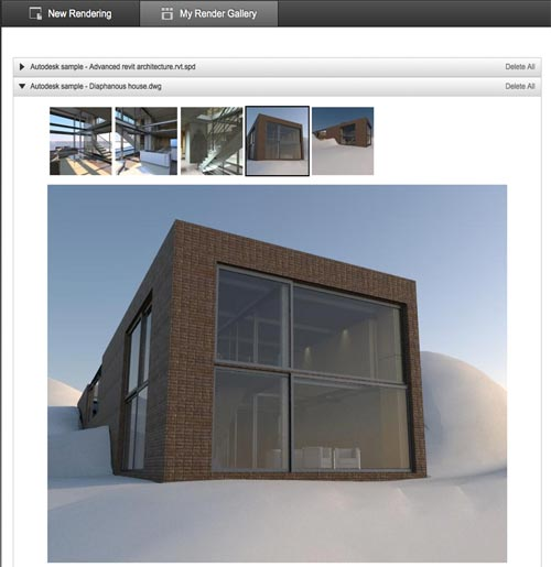 Autodesk Cloud rendering