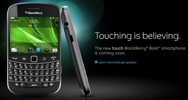 BlackBerry Bold 9900 en España con Vodafone