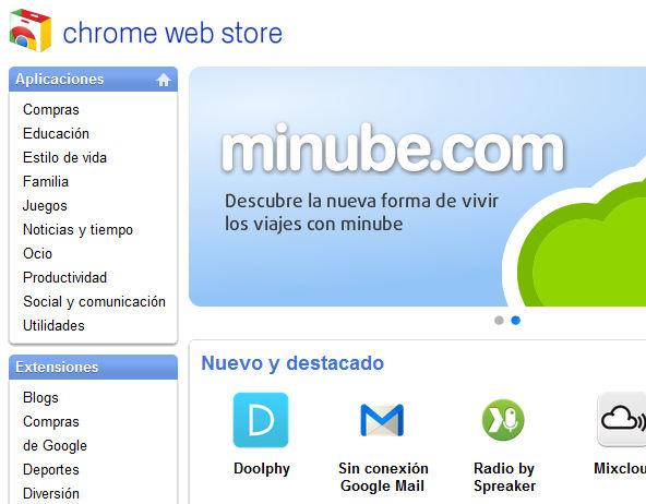 Google trae a España la Chrome Web Store
