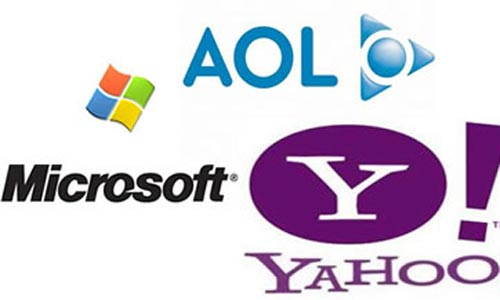 Aol, Microsoft y Yahoo