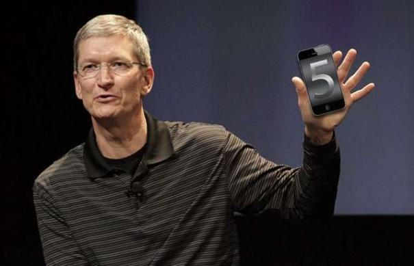 Tim Cook presentaría el iPhone 5 el 4 de octubre