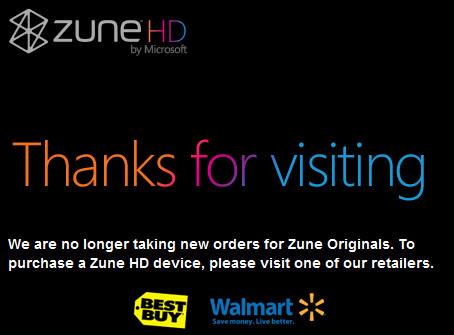 Microsoft acaba con los reproductores Zune, todos los esfuerzos a smartphones